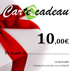 CARTE CADEAU LA QUINCAILLE 10 €