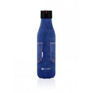 BOUTEILLE ISOTHERME 500ML POCHE BLEU JEAN