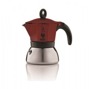 CAFETIERE 6 TASSES MOKA INDUCTION ROUGE
